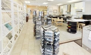 Conestoga Tile Sterling VA showroom with ceramic tile and porcelain tile samples